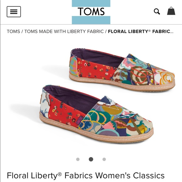 aa8da438521 Toms Classic Liberty Floral Gatsby 7.5